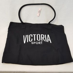 VICTORIA'S SECRET Sport Large TOTE Bag Black NEW
